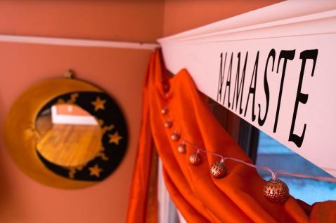 Namaste Studio yoga room and Moon