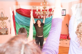 victoria teaching with belly showing